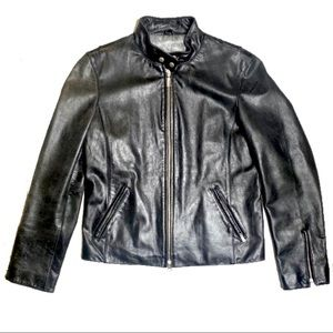Guess Black Moto Leather Jacket